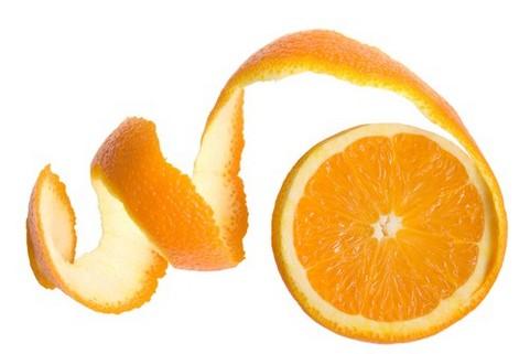 Orange colored facial peel