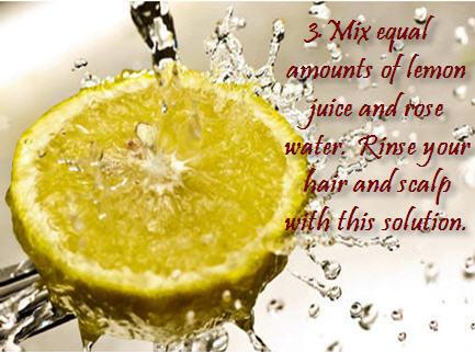 lemon juice and rose water