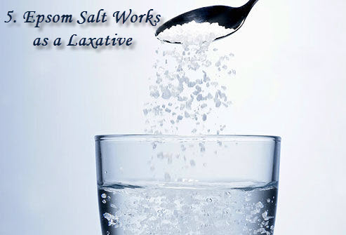 Epsom salt works as a laxative
