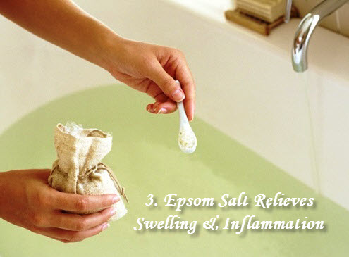 Epsom salt for swelling