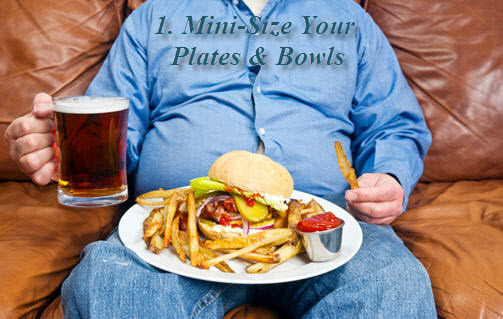 Mindless eating plate