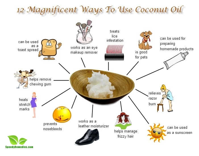 12 Magnificent Ways To Use Coconut Oil Speedy Remedies