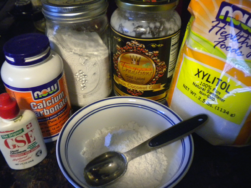 Homemade remineralizing toothpaste