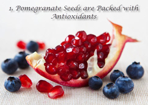 Pomegranate seeds antioxidants