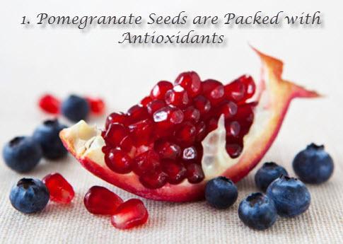 Pomegranate seeds antioxidants