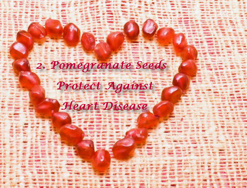 Pomegranate seeds for heart