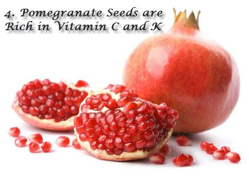 Pomegranate seeds vitamin C