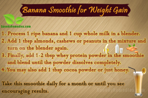 Banana smoothie weight gain