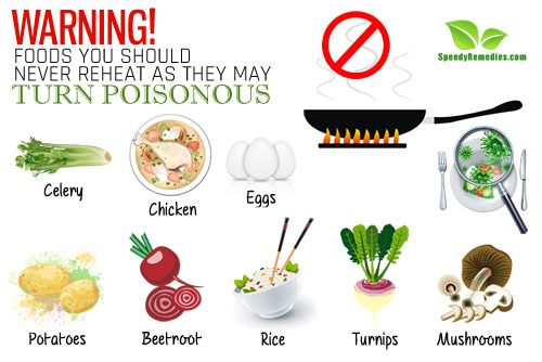 Warning 10 foods you should never reheat as they may turn poisonous home remedies by - Foods never reheat ...