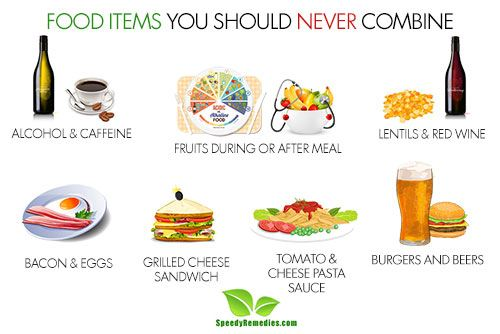 foods you should never combine