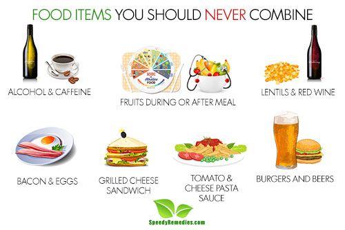 foods you should never combine